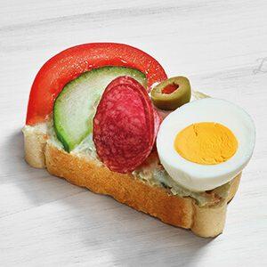 Duran Sandwich Ei Garniert