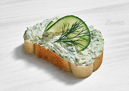 Duran Sandwich Gurkensalat Zaziki Weißbrot