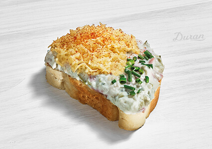 Duran Sandwich Italienischer Wurstsalat Weißbrot